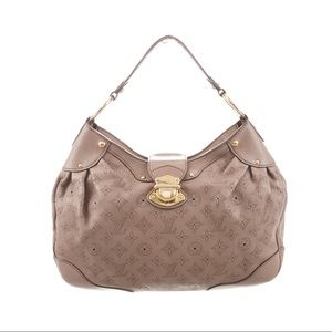 Louis Vuitton Gris Pearl Monogram MahinaLeather PM